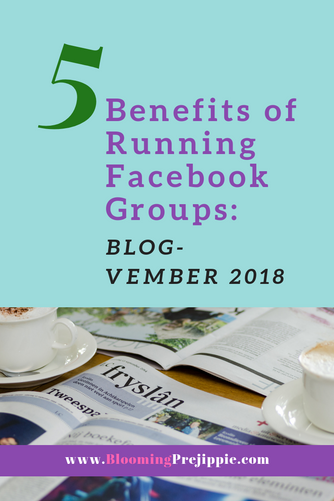 5 Benefits of Running Facebook Groups:  Blog-vember 2018