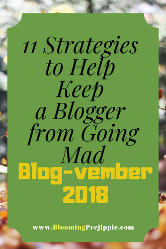 11 Strategies to Help Keep a Blogger from Going Mad:  Blog-vember Strategies 2018