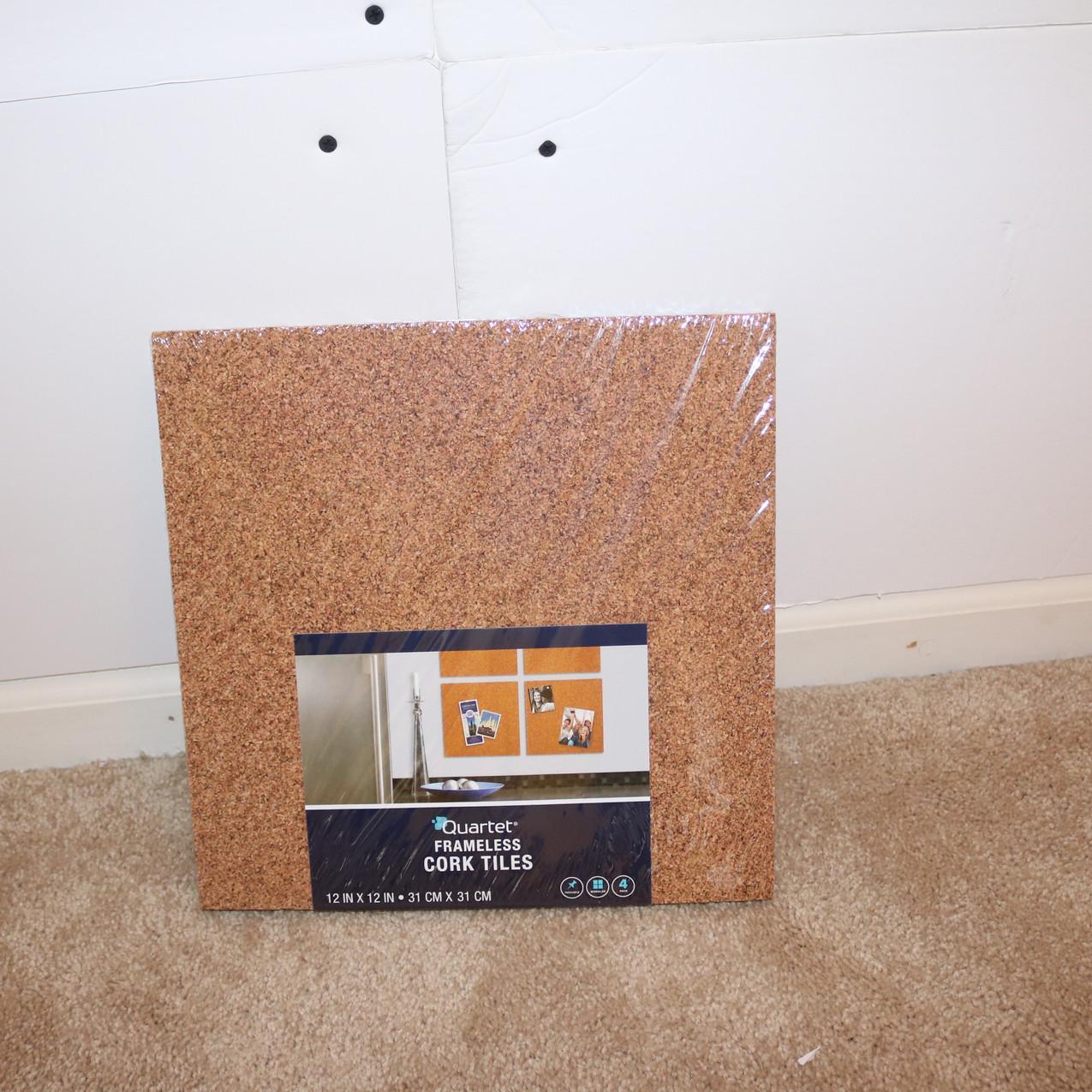 Corkboard tiles