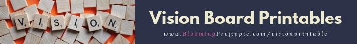Vision Board Printables  --Blooming Prejippie Zine