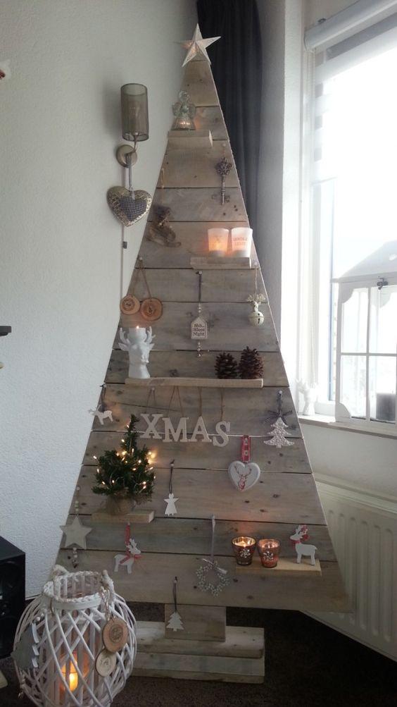 wooden tree christmas