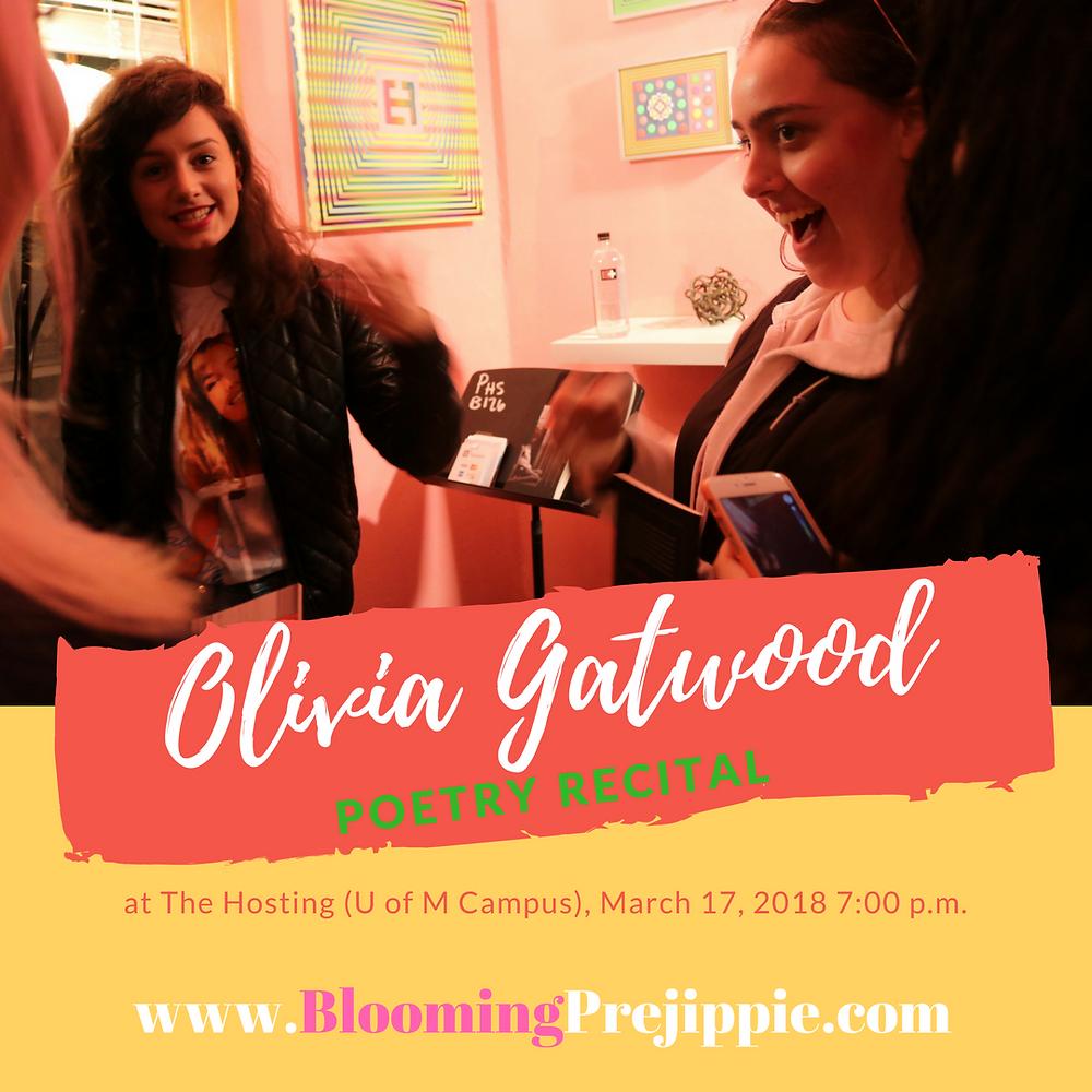 Olivia Gatwood Poetry Recital  --Blooming Prejippie Zine