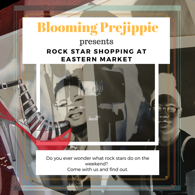 Rock Star Shopping at Eastern Market (Detroit, MI)  --Blooming Prejippie Zine