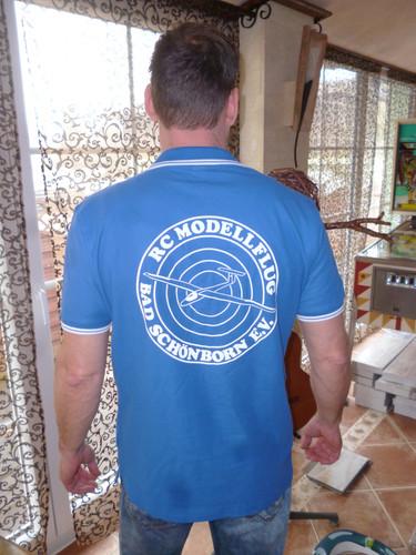 T-Shirt, hinten bedruckt