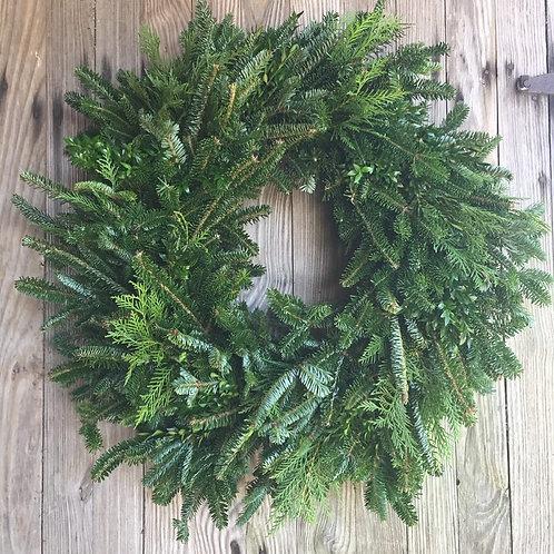 Fresh Mixed Fraizer Fir Wreath