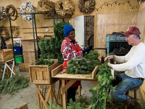 Sanderson Wreaths & Garland Go From Farm to Front Door