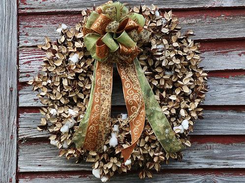 Cotton Burr Wreath