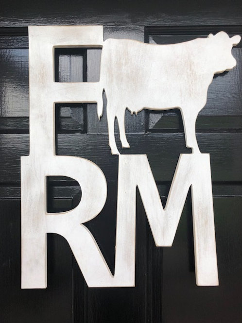 """Farm"" Cow Sign"