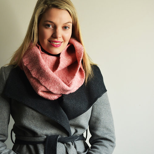 Felt Bundle Scarf in Blush