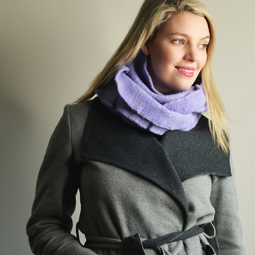 Felt Bundle Scarf in Lilac