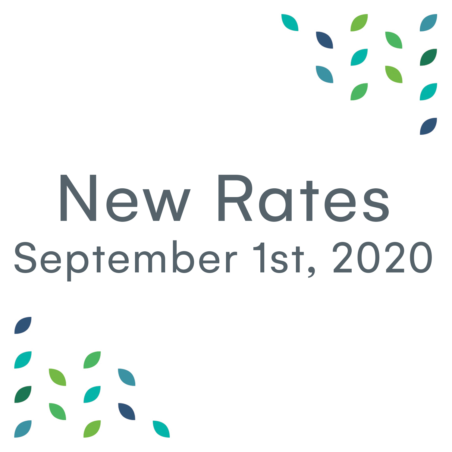 Tonume New Rates - Sept 2020
