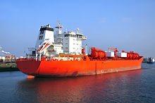 chemical tanker during loading operation