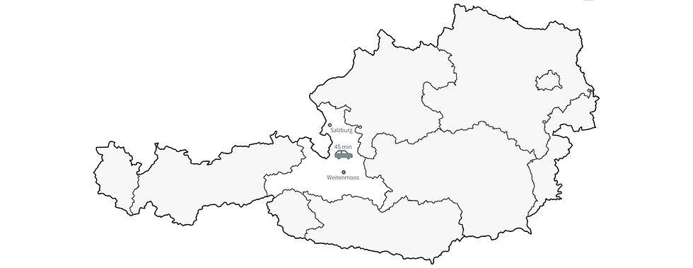 Urlaub in den Bergen im Salzburger Land in Österreich