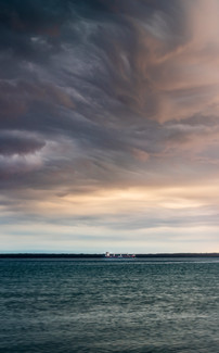Storm Front over Freighter