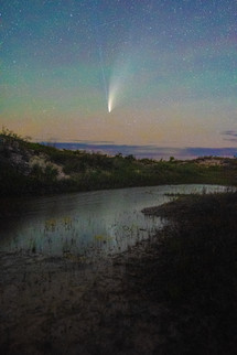 Neowise over Michigan Dunes