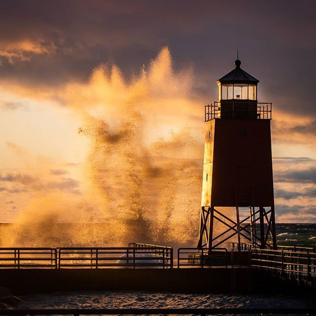 When Lake Michigan gets angry, it let's