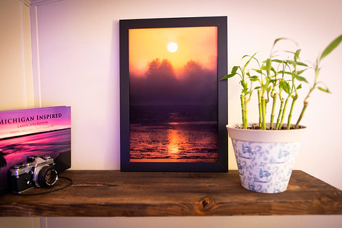 Foggy Sunrise on the Jordan River: 12x18 Loose Print
