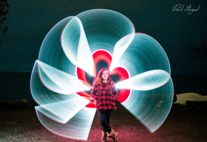 Light Painting on Presque Isle