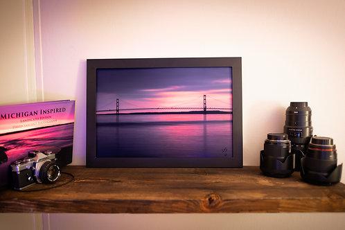 Long Exposure Sunrise at Mackinac Bridge: 12x18 Loose Print