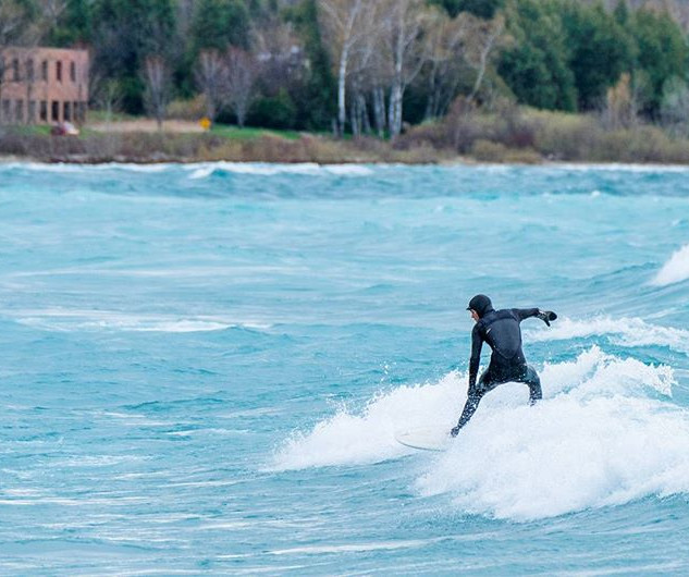 The #surf on #lakemichigan yesterday was