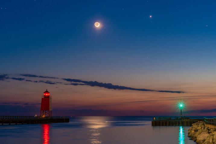 Venus and Crescent Moon