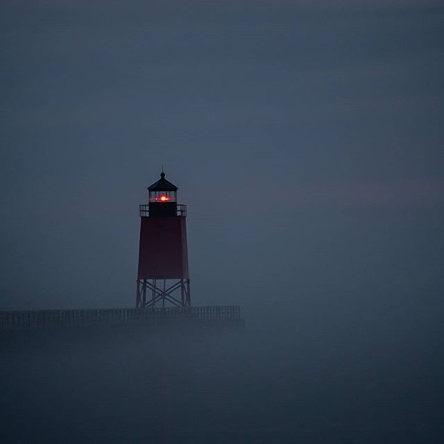 I caught the #Charlevoix #lighthouse in