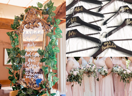 3 Non-Traditional Ways To Use Calligraphy On Your Wedding Day