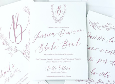 Custom vs semi custom wedding invitations: What's the difference and which should you choose?