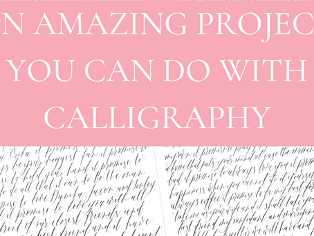 10 amazing projects you can do with calligraphy