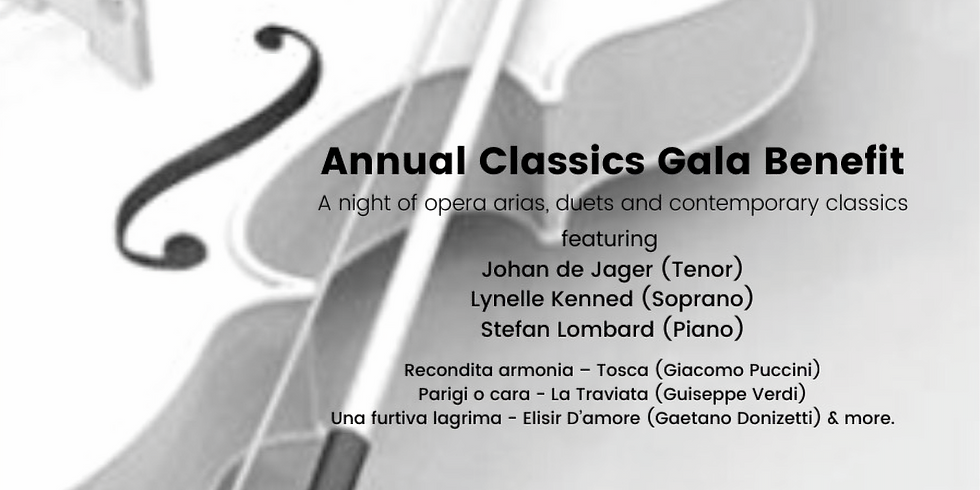 ANNUAL CLASSICS GALA BENEFIT - A night of opera arias, duets & contemporary classics