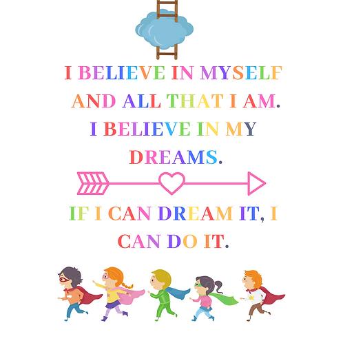 Fridge Magnet Believe in yourself