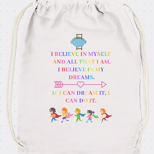 Back-pack Believe in yourself