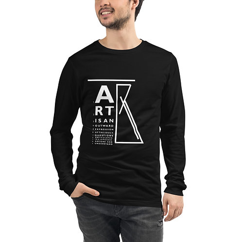 """ART"" eye chart long sleeve tee"