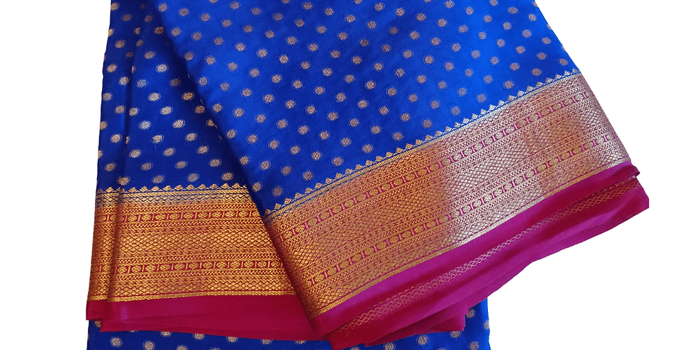 Fancy Mysore Silks Sarees (Blue)