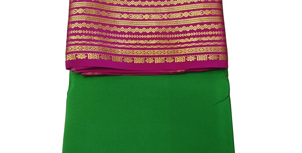 Big Border Mysore Silk Saree