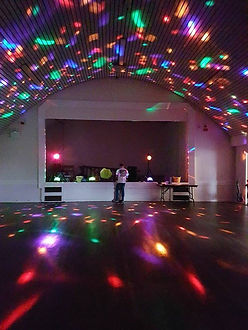 Disco lights in a hall