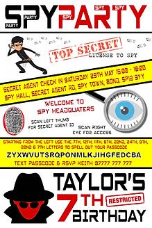 Spy style invite