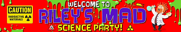 Science styled banner