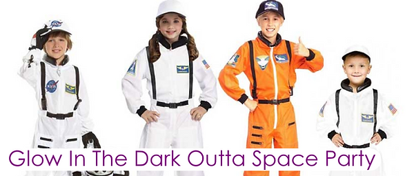 4 children dressed in NASA outfits