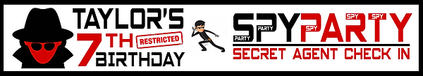 Spy style banner