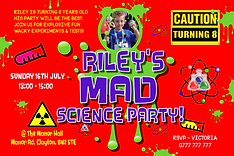 Science styled invites
