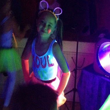 child at uv disco