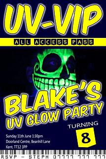 UV glow style invite