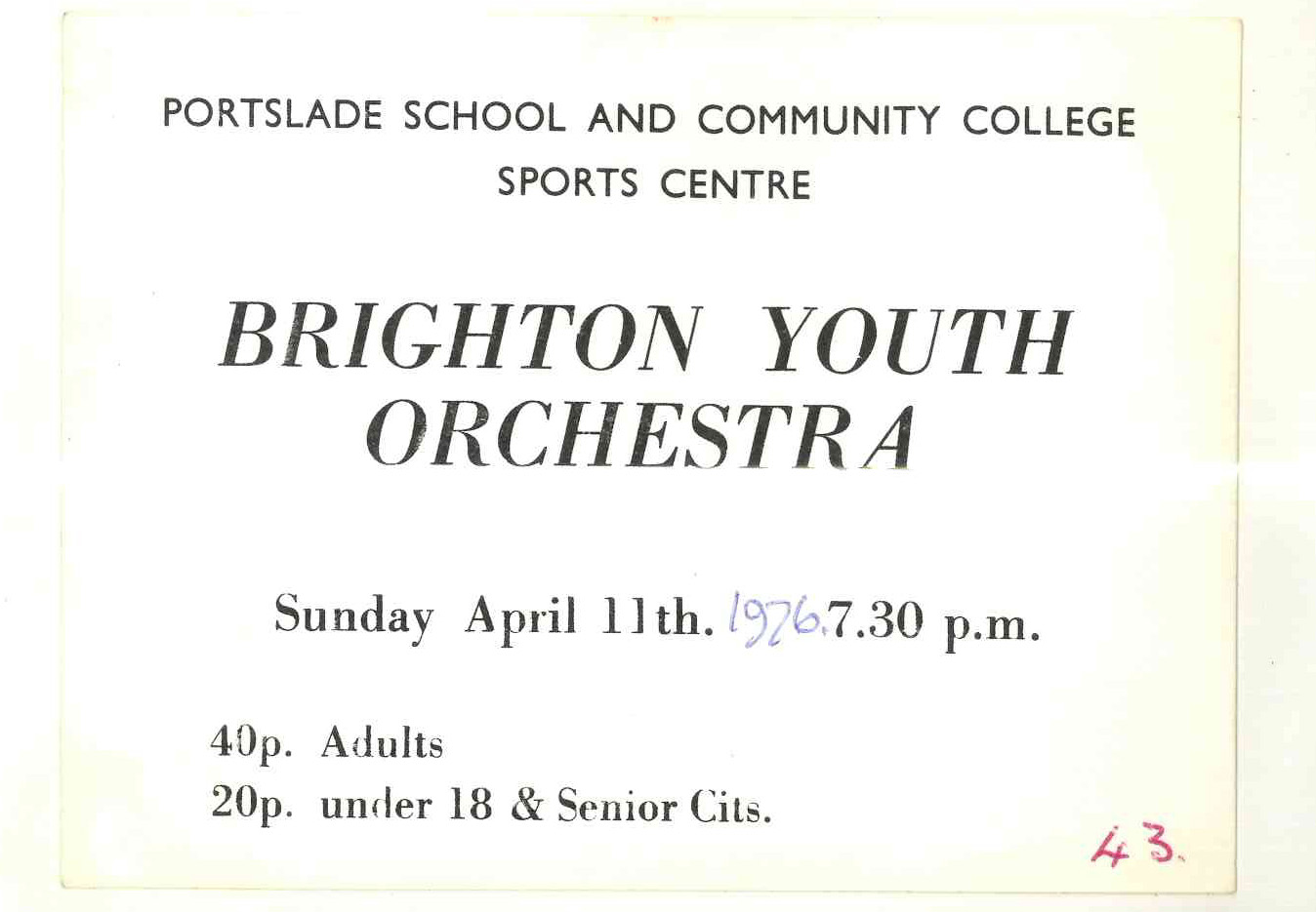 10001-BYO Portslade Sports Centre, Card, 11th April 1976.jpg