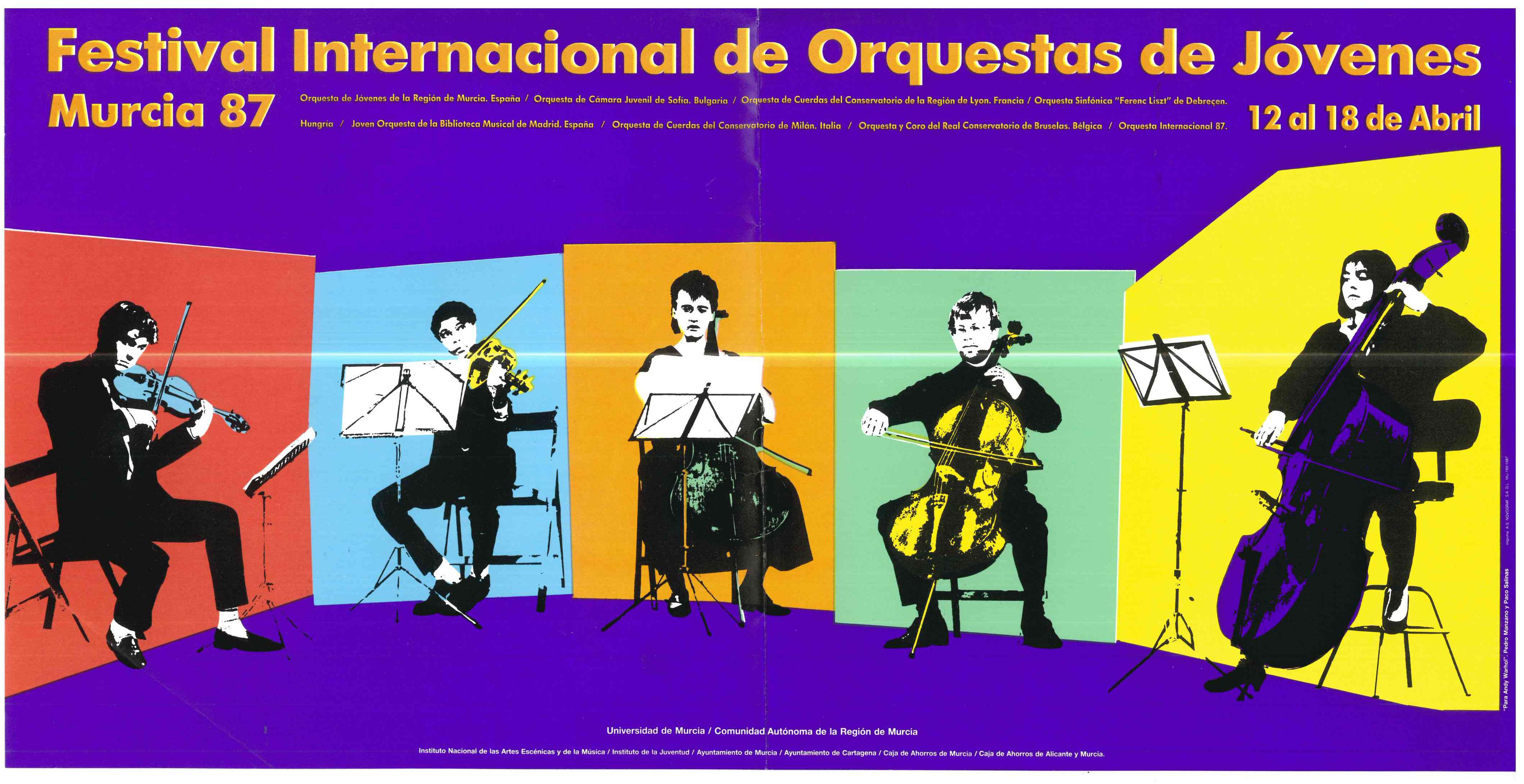 00183-Festival iernacional de Orquestas de Jovenes Murcia, 12-18th April 1987.jp
