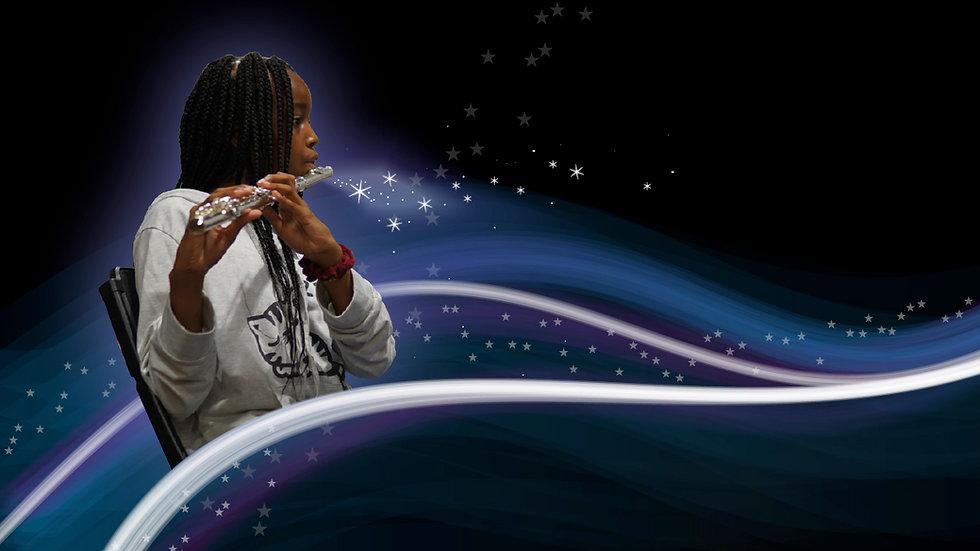 Gift of Music - Web Banner - girl flute.