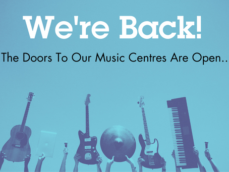 We're Back! Our Music Centre Doors Open Across Brighton and East Sussex