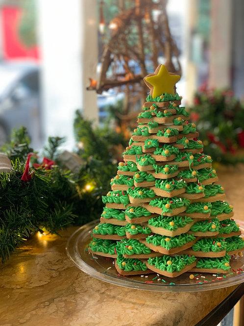 Χριστουγεννιάτικο Δεντράκι από Μπισκότο