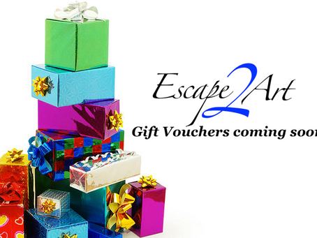 Coming soon - Escape2Art Gift Vouchers