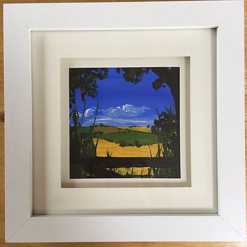 Small Framed Original Acrylic painting - Moonfleet View l